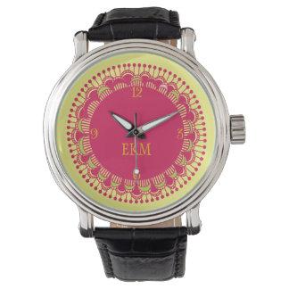 モノグラムのなアールデコのノベルティの腕時計 腕時計