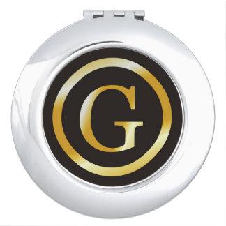 モノグラムのなエレガントなイニシャルGの金ゴールド