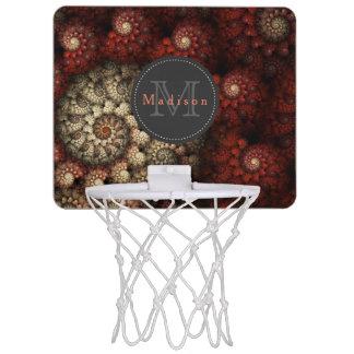 """""""モノグラムのなバラ""""の赤い螺線形のフラクタル絵を描きました ミニバスケットボールゴール"""