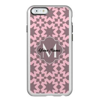 モノグラムのなパステル調ピンクスタイリッシュでシックなパターン INCIPIO FEATHER SHINE iPhone 6ケース