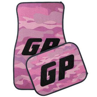 モノグラムのなピンクの軍隊の迷彩柄のカムフラージュ車のマットセット カーマット