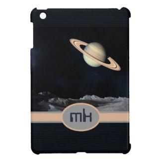 モノグラムのなファンタジーの土星の上昇の景色の宇宙 iPad MINI カバー