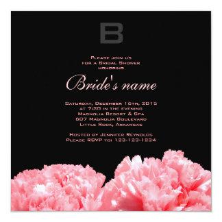 モノグラムのなブライダルシャワーの招待状 カード