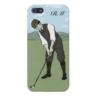 モノグラムのなヴィンテージのスタイルのゴルフ芸術 iPhone 5 ケース