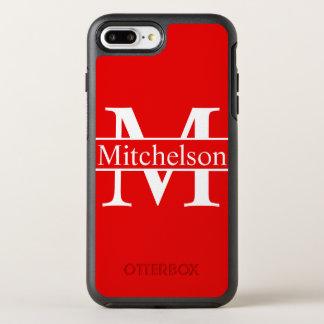モノグラムのな十字バー赤いLR オッターボックスシンメトリーiPhone 8 PLUS/7 PLUSケース