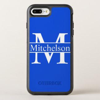 モノグラムのな十字バー青いLR オッターボックスシンメトリーiPhone 8 PLUS/7 PLUSケース