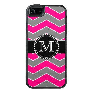 モノグラムのな明るいピンクの灰色、黒いシェブロン オッターボックスiPhone SE/5/5s ケース