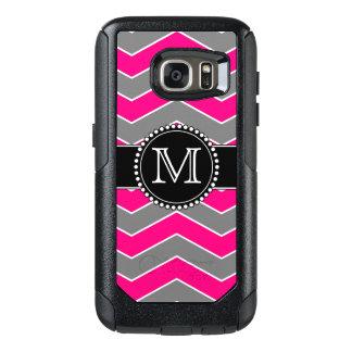 モノグラムのな明るいピンクの灰色、黒いシェブロン オッターボックスSamsung GALAXY S7ケース