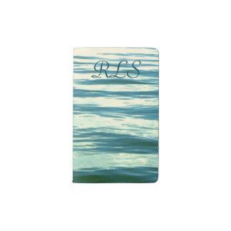 モノグラムのな月明りの海 ポケットMoleskineノートブック