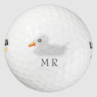 モノグラムのな白いゴム製アヒル ゴルフボール
