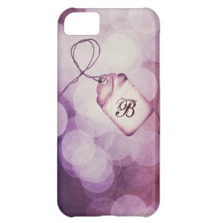 モノグラムのな紫色の《写真》ぼけ味のデザイン iPhone5Cケース