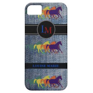 モノグラムのな西部のジーンズの馬 iPhone SE/5/5s ケース