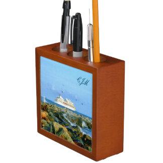 モノグラムのな遊航船との海景 ペンスタンド