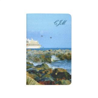 モノグラムのな遊航船との海景 ポケットジャーナル
