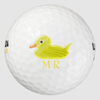 モノグラムのな黄色いゴム製アヒル ゴルフボール