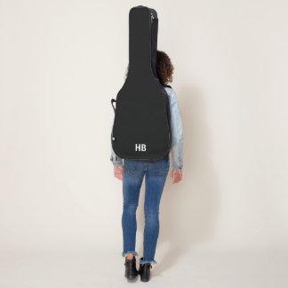 モノグラムのアコースティックギターのバッグ、場合-黒 ギターケース