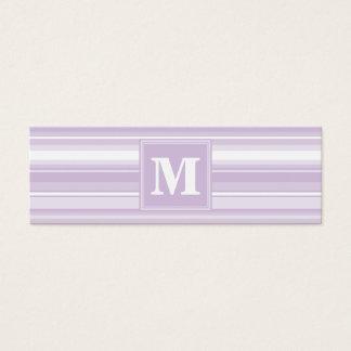 モノグラムのアザミの紫色のストライブ柄 スキニー名刺