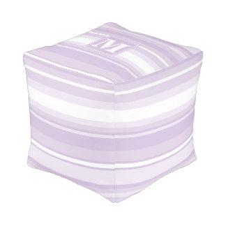 モノグラムのアザミの紫色のストライブ柄 プーフ
