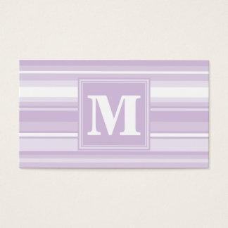 モノグラムのアザミの紫色のストライブ柄 名刺