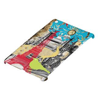 モノグラムのエッフェル塔の蒸気のパンクのiPad Miniケース iPad Mini カバー