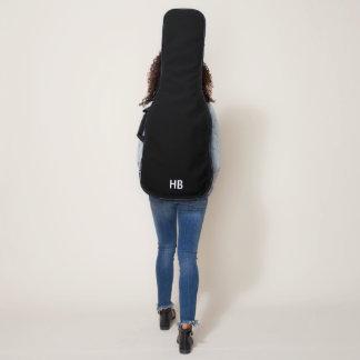 モノグラムのエレキギターのバッグ、場合-黒 ギターケース
