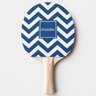 モノグラムのカスタムで青いシェブロンの卓球ラケット 卓球ラケット