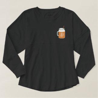 モノグラムのカボチャスパイスの秋の飲み物の精神ジャージー スピリットジャージー