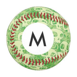 モノグラムのクールなスカル 野球ボール
