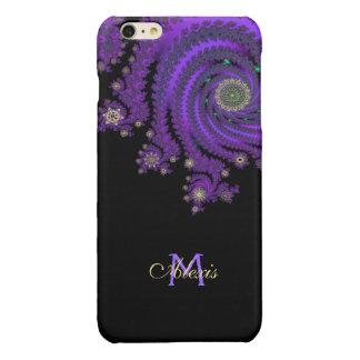 モノグラムのケルト族の紫色のフラクタルのiPhone 6のプラスの場合