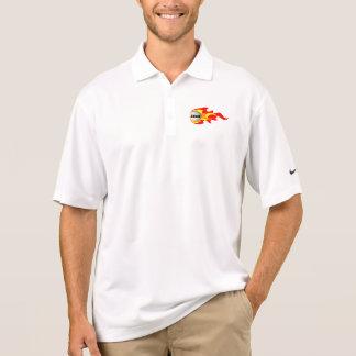 モノグラムのゴルフ火球のポロ ポロシャツ