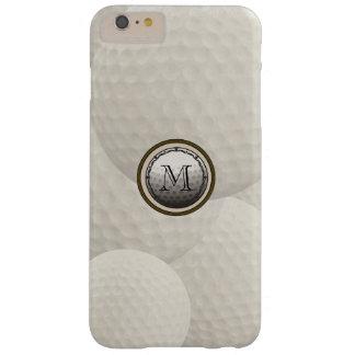 モノグラムのゴルフ・ボールのiPhoneの場合 Barely There iPhone 6 Plus ケース