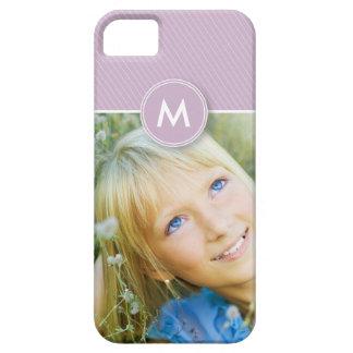 モノグラムのストライプな写真の穹窖の箱(薄紫) iPhone SE/5/5s ケース