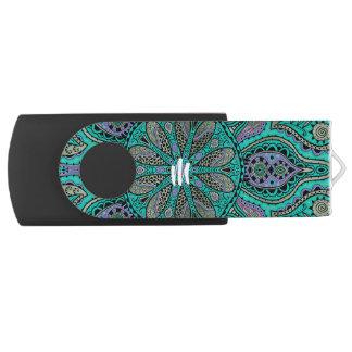 モノグラムのターコイズの紫色の曼荼羅USBのフラッシュドライブ USBフラッシュドライブ