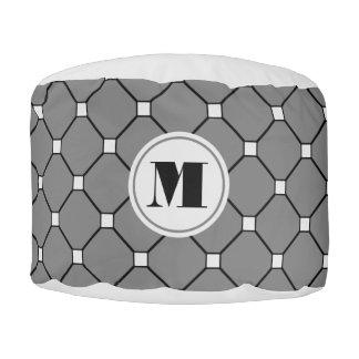 モノグラムのダークグレーのダイヤモンドのPouf プーフ