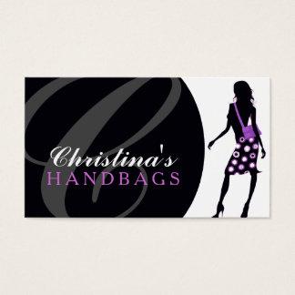 モノグラムのハンドバッグデザイナー名刺 名刺