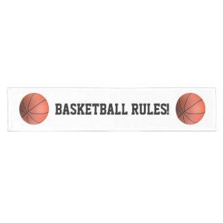 モノグラムのバスケットボール|の涼しいスポーツのギフト ショートテーブルランナー