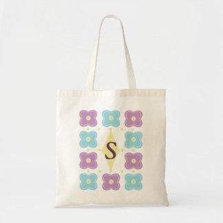 モノグラムのバッグw/Flowerのデザイン トートバッグ
