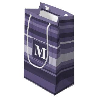 モノグラムのヒースの紫色のストライブ柄 スモールペーパーバッグ