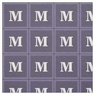 モノグラムのヒースの紫色のストライブ柄 ファブリック