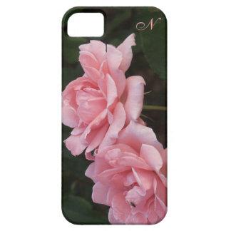 モノグラムのピンクのカーネーションの花のiPhoneの場合 iPhone 5 ケース