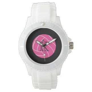 モノグラムのピンクのバレーボールの腕時計 腕時計