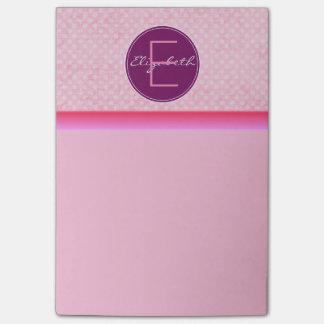 モノグラムのピンクの水玉模様 ポストイット