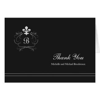 モノグラムのフィレンツェの(紋章の)フラ・ダ・リは感謝していしています カード