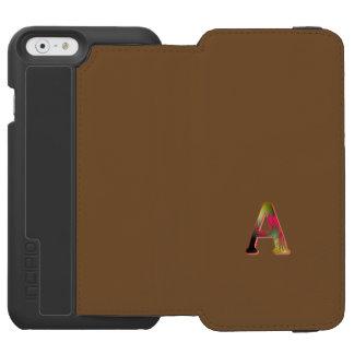 モノグラムのブラウンのスタイルのiPhone 6/6sの財布カバー Incipio Watson™ iPhone 5 財布型ケース