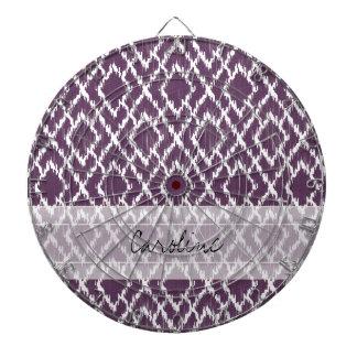 モノグラムのプラム紫色の種族のイカットのダイヤモンドパターン ダーツボード