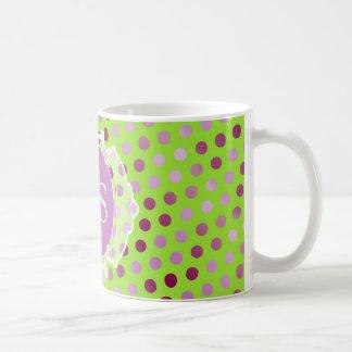モノグラムのモロッコのアール・デコ コーヒーマグカップ