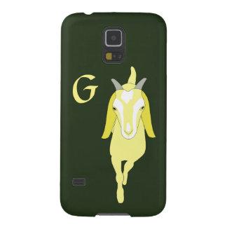 モノグラムのヤギの電話箱 GALAXY S5 ケース