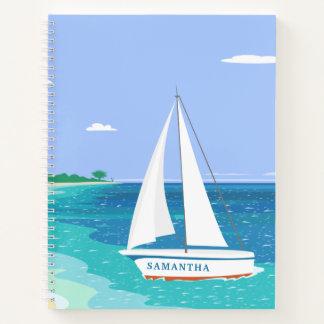 モノグラムのヨットの海のSeaviewの螺線形ノート ノートブック