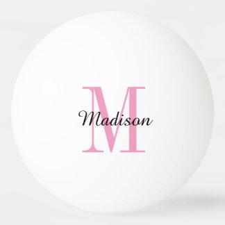 モノグラムの名前入りなピンポン球 卓球ボール