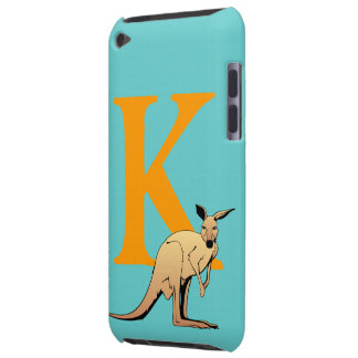 モノグラムの大文字Kのカンガルーの漫画のカスタム Case-Mate iPod TOUCH ケース